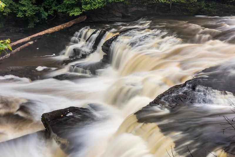 Manido Falls, Presque Isle River. Porcupine Mountains, Michigan.