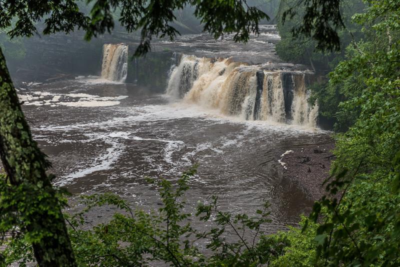 Manabezho Falls, Presque Isle River. Porcupine Mountains, Michigan.