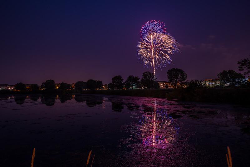 4th July firework. Elk River, Minnesota.