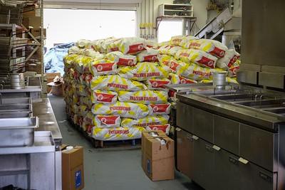 Pallets of potatoes