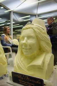 A tiara graces the butter bust of Princess Kay of the Milky Way