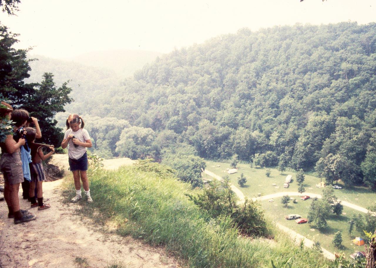 Hiking the bluff