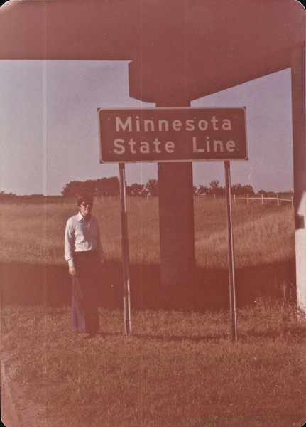 Randy at Sign Entering Minnesota - 9/2/78