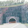 1400' Long Silver Creek Cliff Tunnel - North Shore Drive of Lake Superior, MN  6-1-99<br /> Through volcanic rock formation mountains