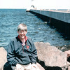 Randal Enjoying the Water and Lighthouse - Duluth, MN  6-4-99