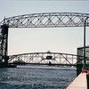 Aerial Bridge - Duluth, MN  6-4-99<br /> 386 feet long - the road lifts like an elevator