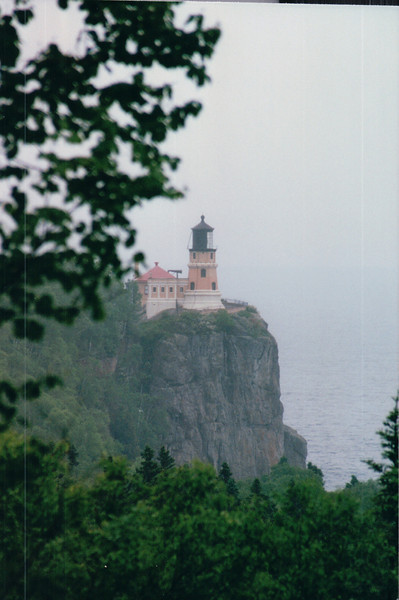 Split Rock Lighthouse State Park - North Shore Drive of Lake Superior, MN  6-1-99<br /> Built in 1910 to protect Lake Superior shippiing