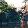 Dallas of the St. Croix River Gorge - Taylor Falls, MN  6-4-99<br /> Unusual rock formations in gorge - lava cliffs eroded by river during glacial period - rise is sharply at about 200 feet.