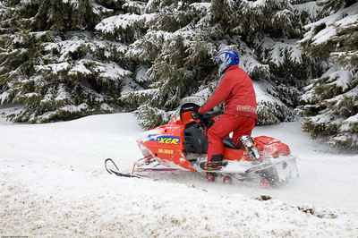 Snow mobiles everywhere