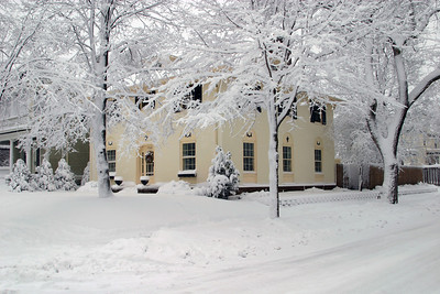 Our Minneapolis Home after a snowstorm.