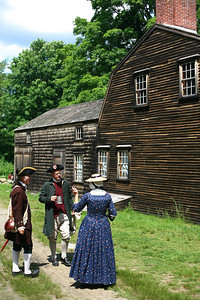 I got into a time machine and snapped this picture outside Hartwell Tavern, which has quenched colonists' thirst since 1770.