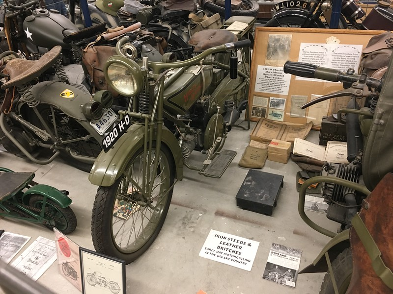 Yep, a slew of old motorcycles