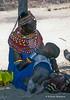 Samburu Woman Nursing a Young Child, Samburu, Kenya, Africa