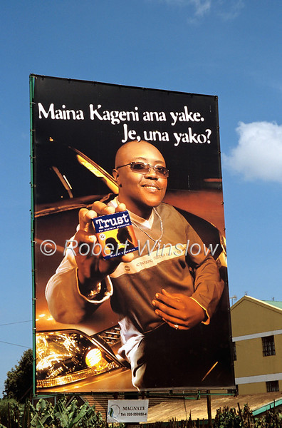 """Billboard Ad for Condoms That Says """"I have mine.  Do you have yours?""""<br /> Nanyuki, Kenya, Africa"""
