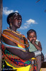 Samburu Woman and Child, Samburu, Kenya, Africa