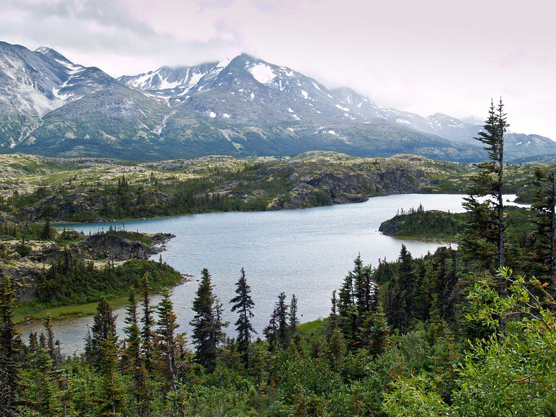 Mountains and Lakes of the Yukon Territory, Alaska