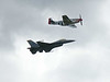 P-51 & F-16 at Cape Girardeau, MO airshow