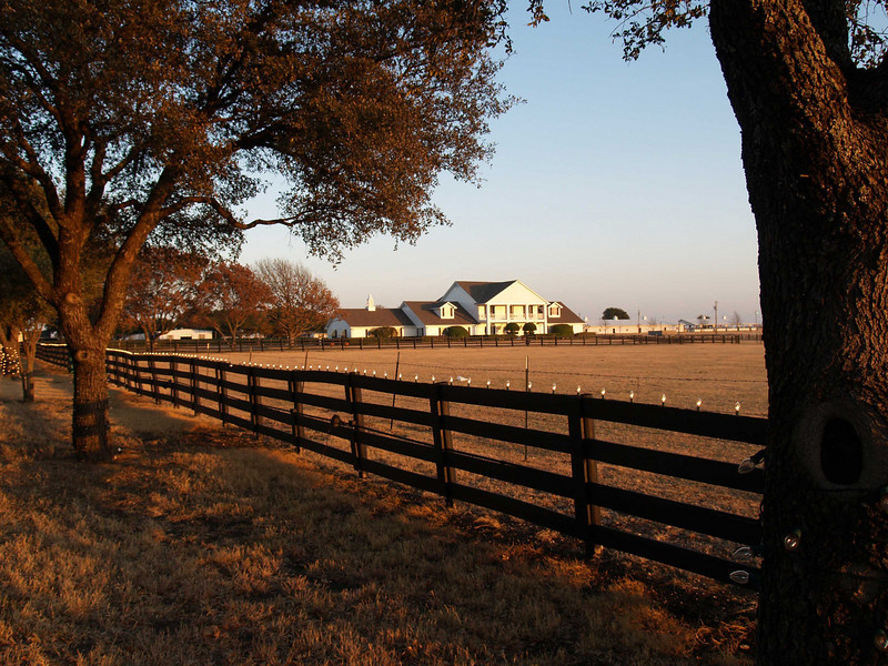 "An evening photo of Southfork Ranch  Filiming location for the TV series ""Dallas,"" Plano, Texas"