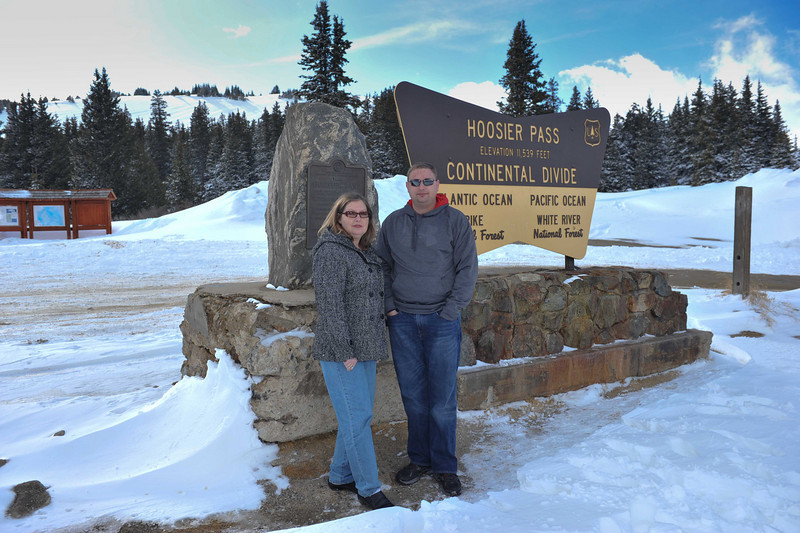 Judy and Shane at 11539 feet elevation,   Hoosier Pass, Colorado