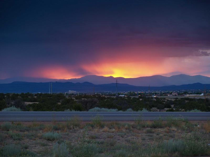 Sunset near Los Alamos, New Mexico