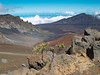 A view across Haleakala Crater, 10,023 feet,  located in Haleakala National Park, Maui, Hawaii