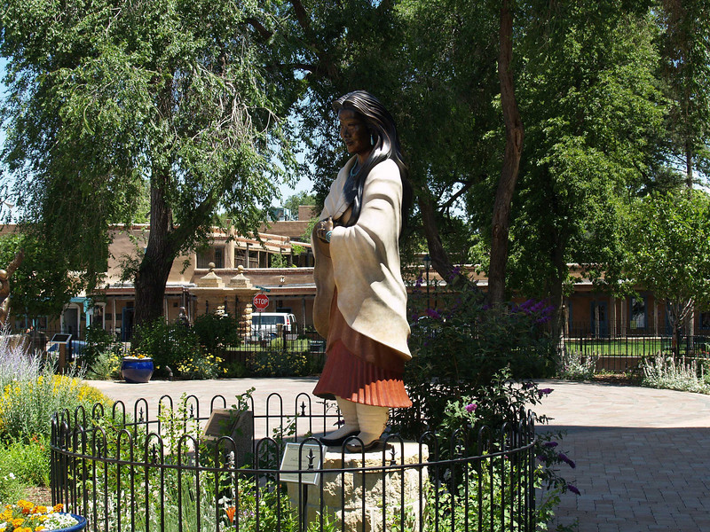 Santa Fe, New Mexico, across the street from the beginning of the Senta Fe Trail Cattle drive.