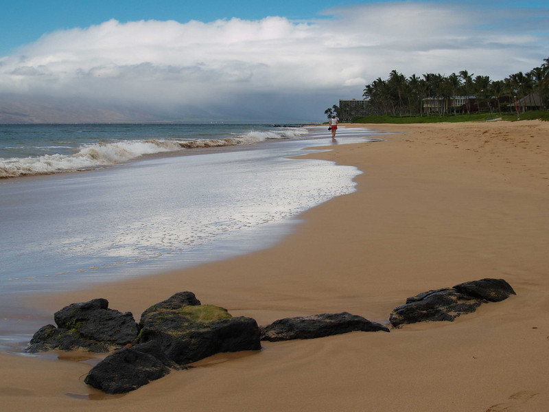 A stroll on the beach in Maui, Hawaii