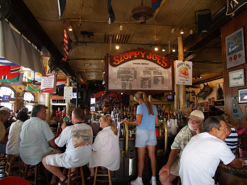 Sloppy Joe's has been a Key West tradition since 1933. Visitors from around the world come to see the bar that was Ernest Hemingway's favorites.   Key West, Florida