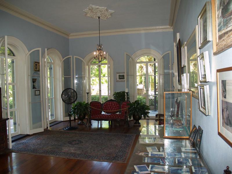 Inside the Hemmingway home, Key West, FL