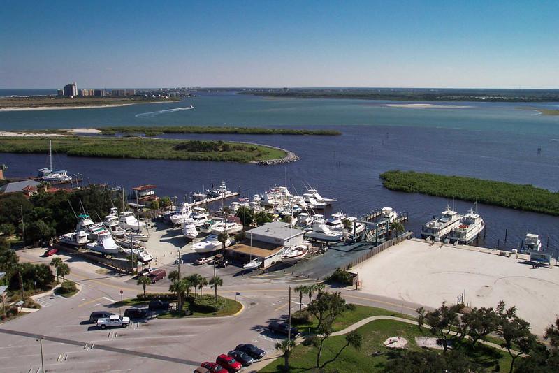 Shot taken atop Ponce Inlet Lighthouse, Daytona Beach, Florida