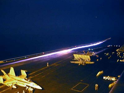carrier at night