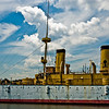 "Title: Olympia<br /> Date: July 2008<br /> Philadelphia PA - The Olympia battle-cruiser, the last surviving ship from the ""Great White Fleet""."