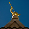 Title: Golden Sound<br /> Date: November 2011<br /> Salt Lake City - The statue of the Angel Moroni on top of the Salt Lake Temple.