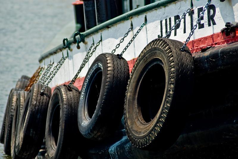 Title: By Jove!<br /> Date: July 2008<br /> Philadelphia PA - The tug Jupiter along Philadelphia's docks.
