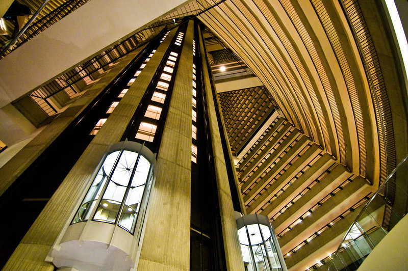 Title: Circles and Lines<br /> Date: June 2011<br /> Atlanta - The elevator in a hotel in downtown Atlanta.