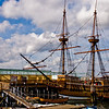 Title: Mayflower II<br /> Date: August 2008<br /> Plymouth MA - Replica of the Mayflower, docked in Plymouth harbor.