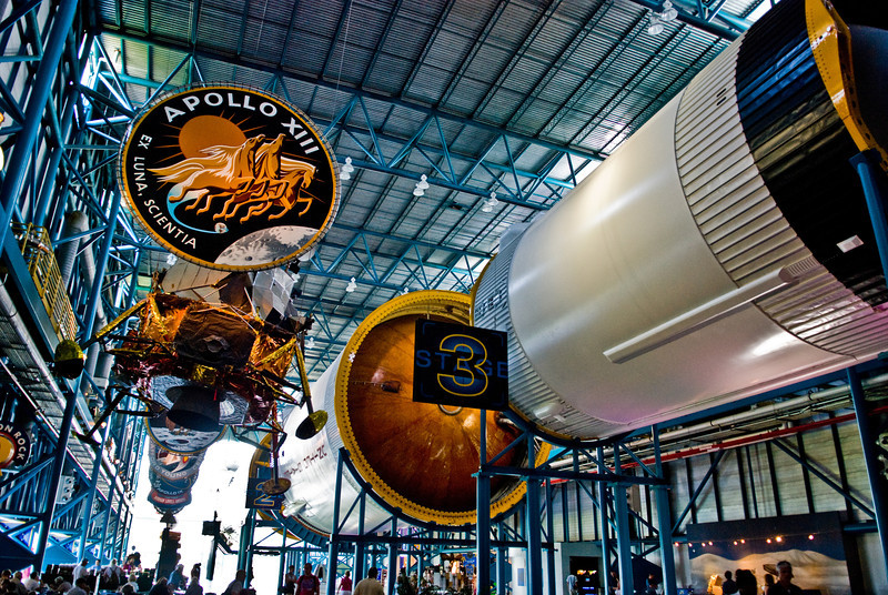 Title: Stage Three<br /> Date: October 2008<br /> Cape Canaveral FL - The Saturn V rocket at Kennedy Space Center in Florida.