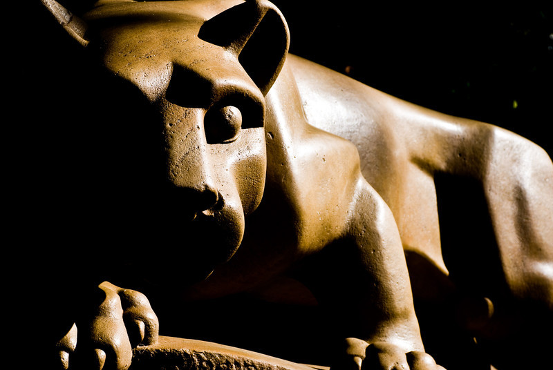 Title: Nittany Lion<br /> Date: May 2008<br /> Penn State PA - The Nittany Lion statue; the mascot of Penn State University.