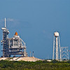 Title: Backup<br /> Date: October 2008<br /> Cape Canaveral FL - One of the Space Shuttles sits on a launch pad at the Kennedy Space Center.