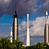 Title: Rocket Garden<br /> Date: October 2008<br /> Cape Canaveral FL - A number of rockets from the Space Race in the Rocket Garden at the Kennedy Space Center.