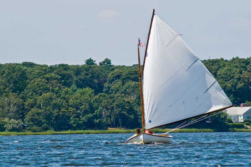 Title: Sail<br /> Date: August 2009<br /> Cape Cod MA - A sail boat on the Bass River on the Cape.