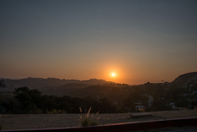 Pacific Sunset from Hollywood Hills