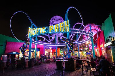 Nighttime Pacific Park