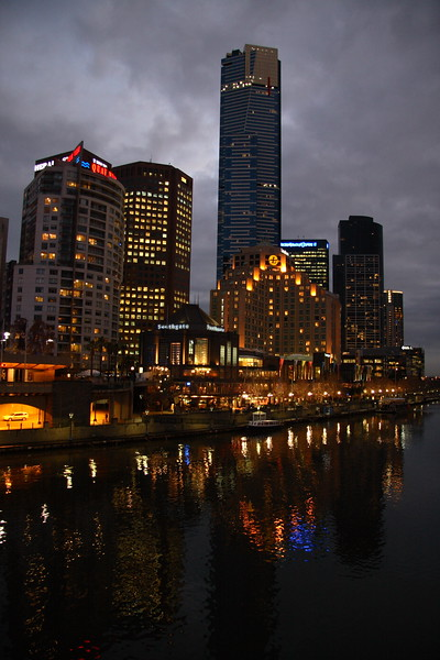 A threatening sky over Southbank. Melbourne, Victoria.