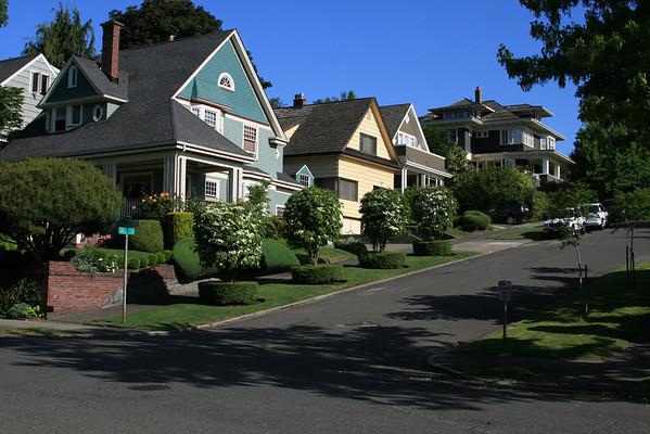 residential street in Seattle