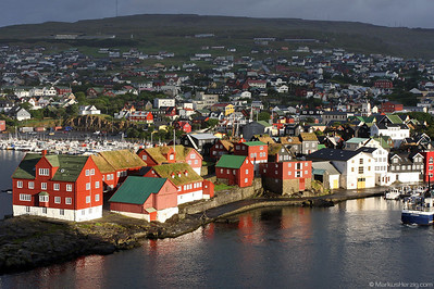 Old Town with colorful houses @ Torshavn Faroe Islands 7Aug09