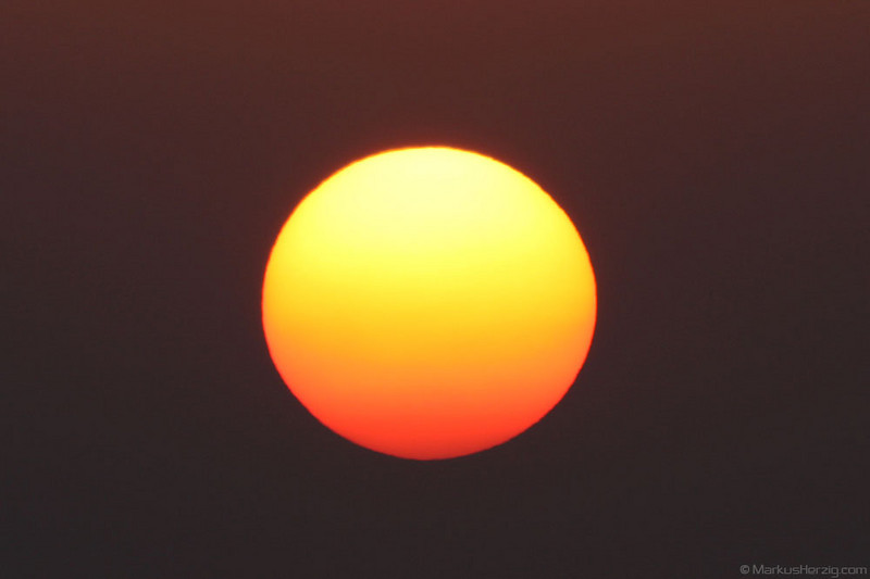 Sunset with volcanic ash in the sky @ Bantigen Switzerland 17Apr10