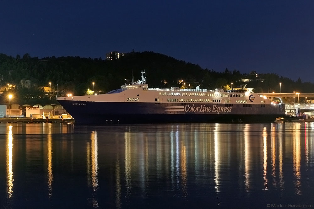 Ferry SILVIA ANA Color Line Express @ Kristiansand Norway 24Jul07