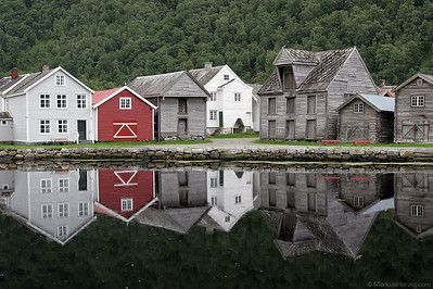 The old fjord village of Laerdal @ Laerdal Norway 14Jul07