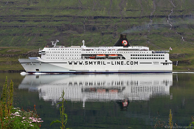 Ferry NORRÖNA Smyril-Line @ Seydisfördur Iceland 5Aug10